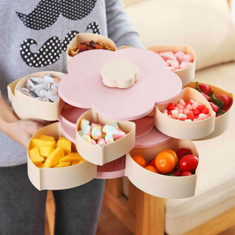 Automatic Flower Petal Snack Holder