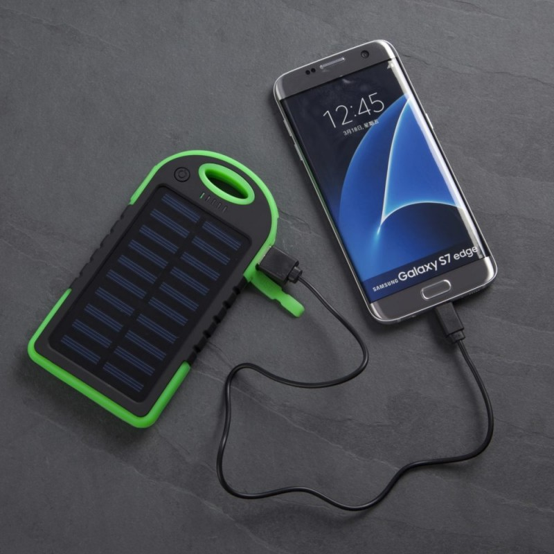 Power Bank Powered By Solar Energy