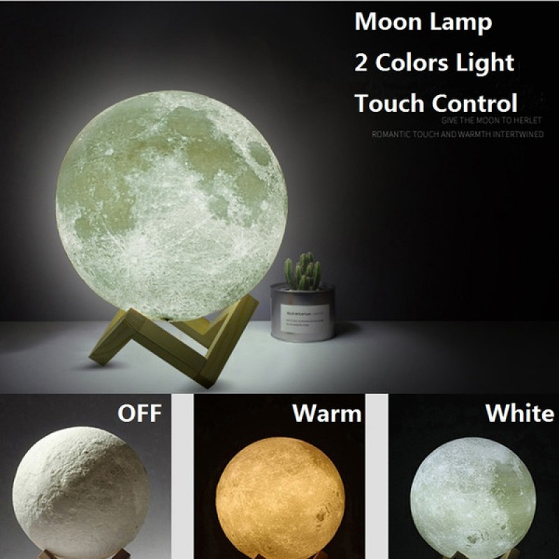 15cm Moon Lamp (4 Colors in One)