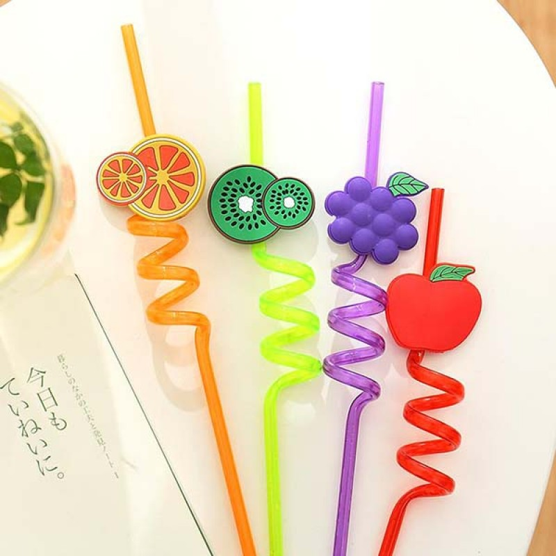 Fruity Straws Pack of 4 (Washable & Re-Usable)