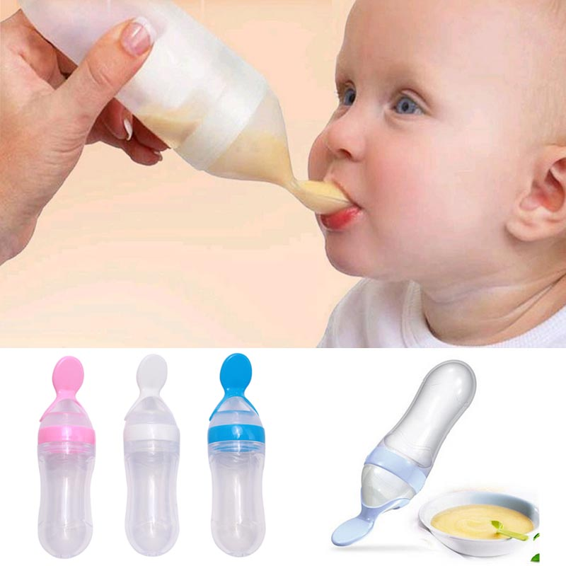Squeeze Baby Food Dispensing Spoon
