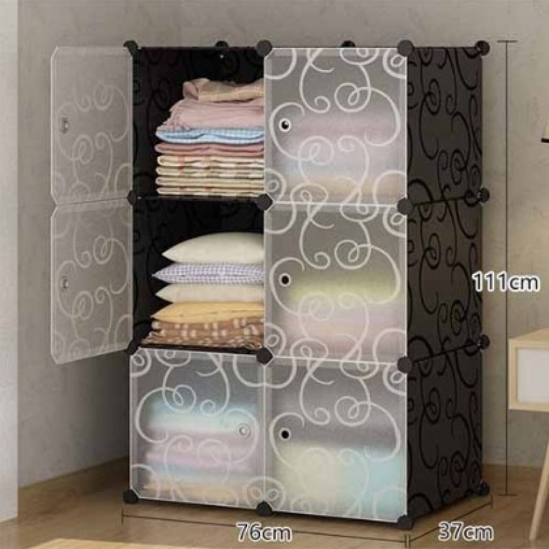 6 Cube Organizer With Doors