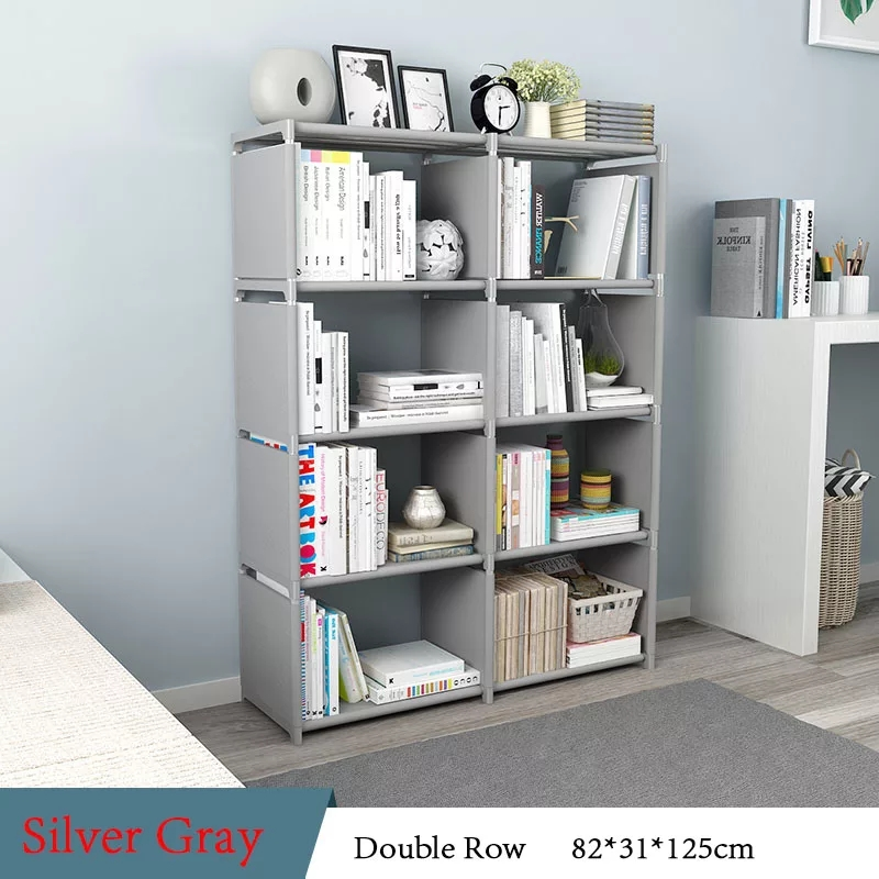 Double Row 4 Layer Book Shelf