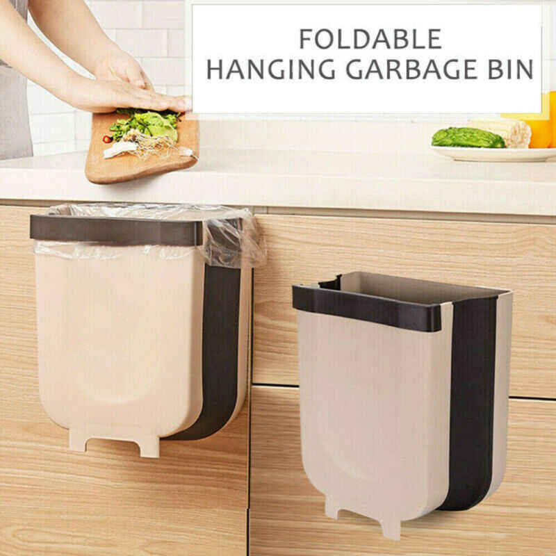 Foldable Kitchen Cabinet Door Hanging Trash Bin