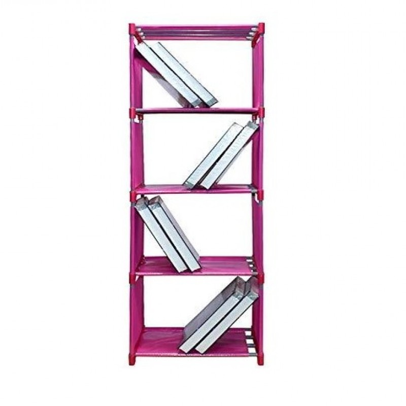 PINK 4 LAYER BOOK SHELF FOR BOOKS