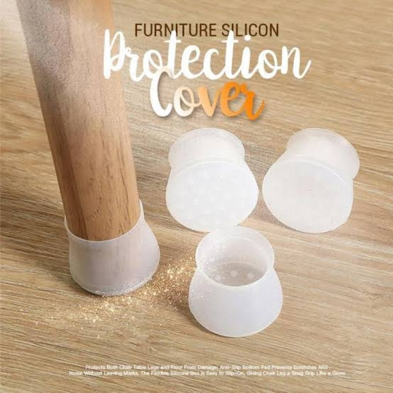 4 Pieces Silicone Covers Chair Legs
