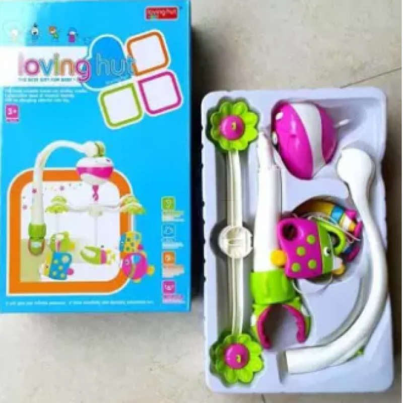 Baby Musical Mobile With Four Little Toys Fit For Strollers Carrycots And Cribs