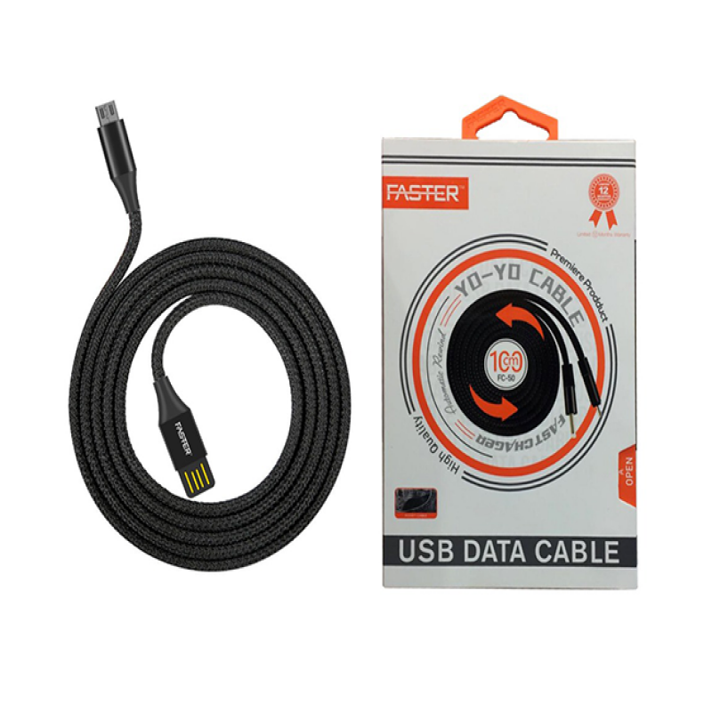 FASTER FC-50 Yo-Yo Fast Charge Data Cable 2.0A