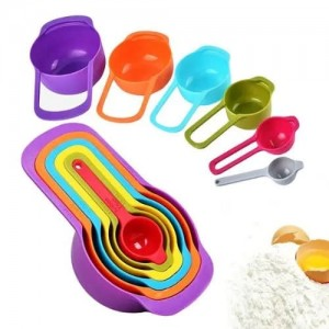 Pack of 6 - Measuring Cup & Spoon Set - Multicolor