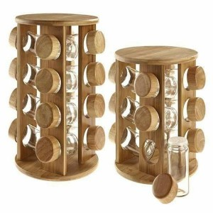 Wooden Revolving Masala Jar (12 Pieces)