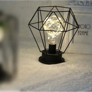Battery Candle LED Iron Lamp Bulb Light