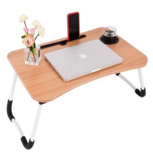 Multi-Purpose Wooden Laptop Desk (Without Cup Holder) Biege