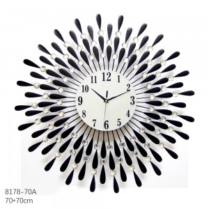 Flower Beads Wall Clock (8178-70A)