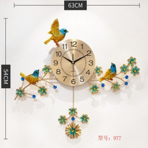 Colorful Bird Flower Wall Clock (977)