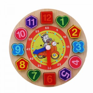 Wooden Colorful 12 Digital Clock Toy