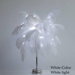 LED Feather Table Lamp