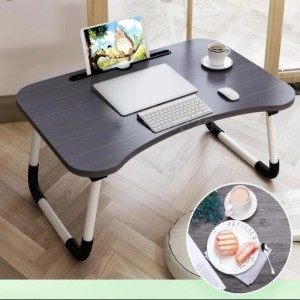 Multi-Purpose Wooden Laptop Desk (Without Cup Holder) Black