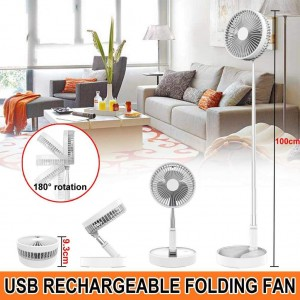 Rechargeable Folding Stand Fan (Without Remote)