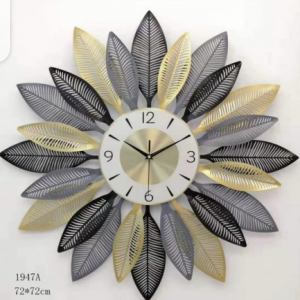 Mix Color Leaf Wall Clock (BROWN)
